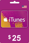 Tarjeta Regalo Apple iTunes 25 USD USA