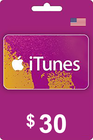 Tarjeta Regalo Apple iTunes 30 USD USA