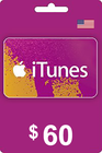 Tarjeta Regalo Apple iTunes 60 USD USA