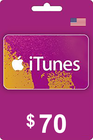 Tarjeta Regalo Apple iTunes 70 USD USA